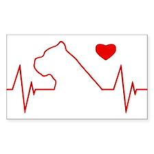 Cane Corso Heartbeat Decal