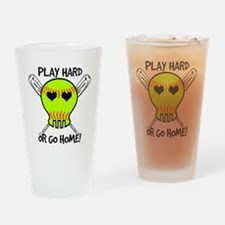 Play Hard or Go Home - Softball Drinking Glass