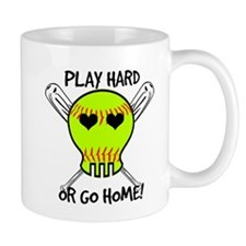 Play Hard or Go Home - Softball Mugs