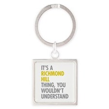 Richmond Hill Queens NY Thing Square Keychain