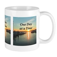 ONE DAY AT A TIME Small Mugs