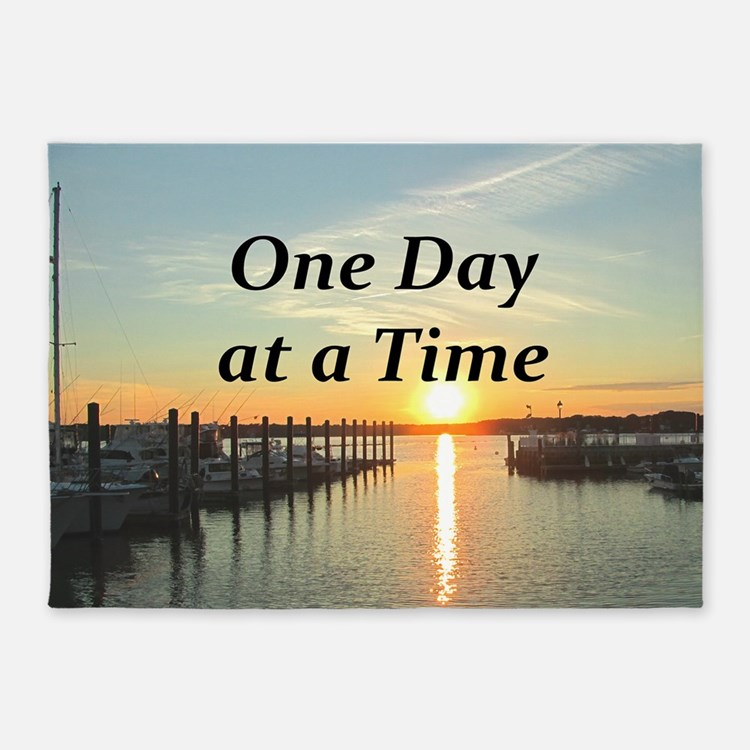 One Day At A Time 5 X7 Area Rug