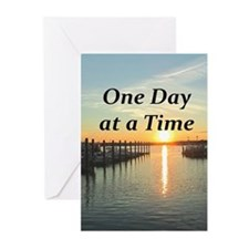 ONE DAY AT A TIME Greeting Cards (Pk of 20)