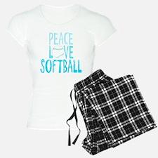 Peace, Love, Softball Pajamas