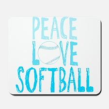 Peace, Love, Softball Mousepad