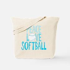Peace, Love, Softball Tote Bag