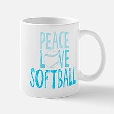 Peace, Love, Softball Mugs
