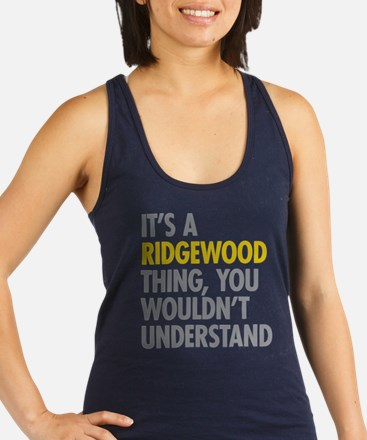 Ridgewood Queens NY Thing Racerback Tank Top