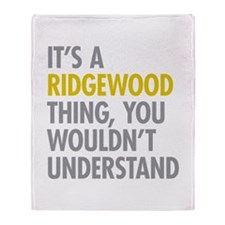 Ridgewood Queens NY Thing Throw Blanket