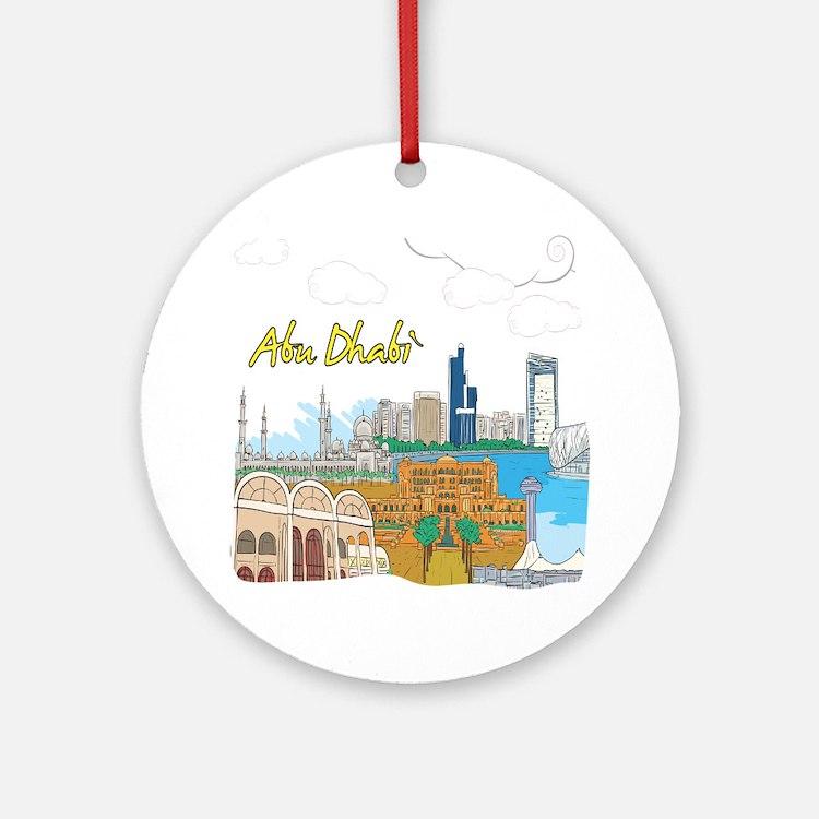 Abu Dhabi in the United Arab Emirates Ornament (Ro