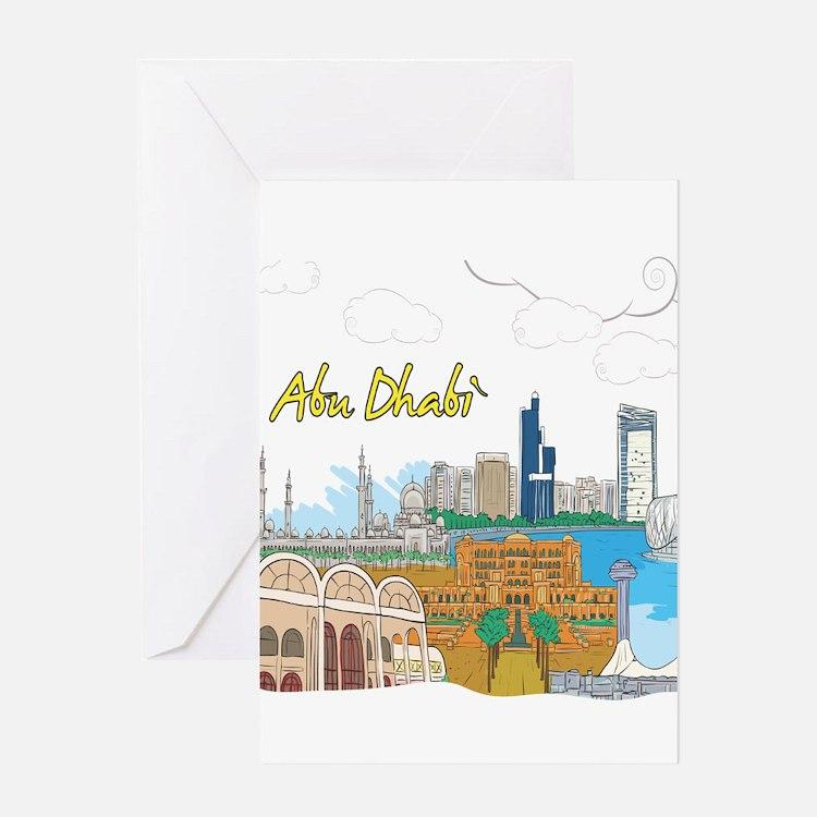 Abu Dhabi in the United Arab Emirates Greeting Car