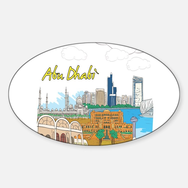 Abu Dhabi in the United Arab Emirates Decal