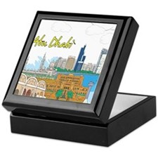 Abu Dhabi in the United Arab Emirates Keepsake Box