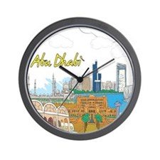 Abu Dhabi in the United Arab Emirates Wall Clock