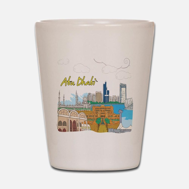 Abu Dhabi in the United Arab Emirates Shot Glass