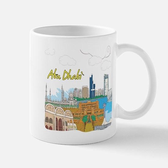 Abu Dhabi in the United Arab Emirates Mugs
