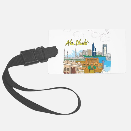 Abu Dhabi in the United Arab Emirates Luggage Tag