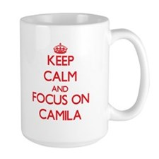 Keep Calm and focus on Camila Mugs