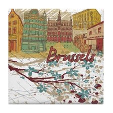 Brussels Belgium Tile Coaster