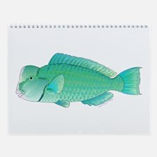 Parrotfish, Wrasse, And Triggerfish Wall Calendar