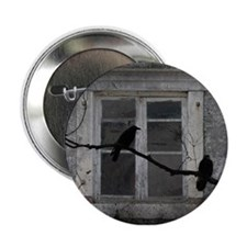 "Cute Old crow 2.25"" Button"