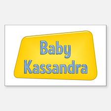 Baby Kassandra Rectangle Decal