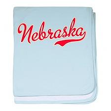 Nebraska Script Font baby blanket