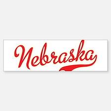 Nebraska Script Font Bumper Bumper Bumper Sticker