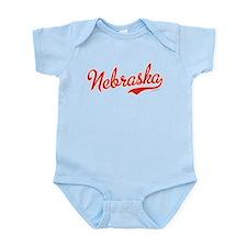 Nebraska Script VINTAGE Infant Bodysuit