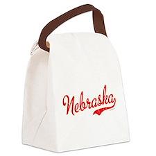 Nebraska Script VINTAGE Canvas Lunch Bag