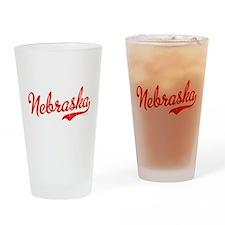 Nebraska Script VINTAGE Drinking Glass