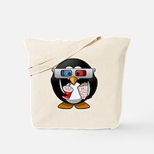 Cinema Penguin Tote Bag