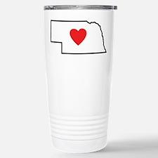 I Love Nebraska Travel Mug