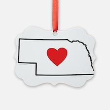 I Love Nebraska Ornament