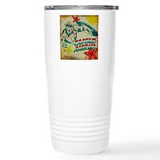 Grunge Captain America Travel Mug