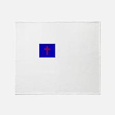 Christian Flag Throw Blanket