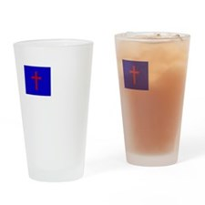 Christian Flag Drinking Glass