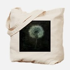 Unique Dandelion white black Tote Bag