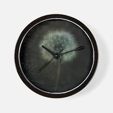 Unique Dandelion white black Wall Clock