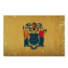 New Jersey State Flag VINTAGE Postcards (Package o