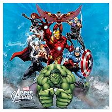 Avengers Assemble Team Wall Art Poster