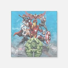 "Avengers Assemble Team Square Sticker 3"" x 3"""