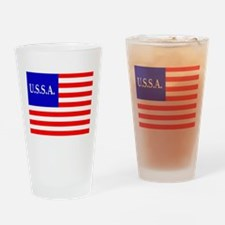 USSA Flag Drinking Glass