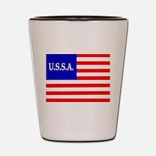 USSA Flag Shot Glass