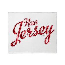 New Jersey Script Font Throw Blanket
