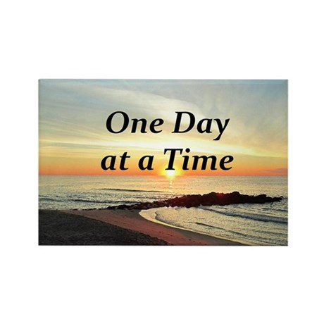 one day at a time rectangle magnet by heavenlyblessings