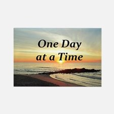 ONE DAY AT A TIME Rectangle Magnet (100 pack)