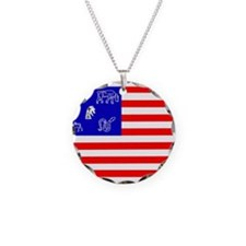 Pictish American Flag Necklace