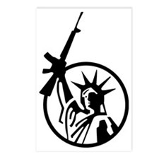 Lady Liberty AR-15 Postcards (Package of 8)