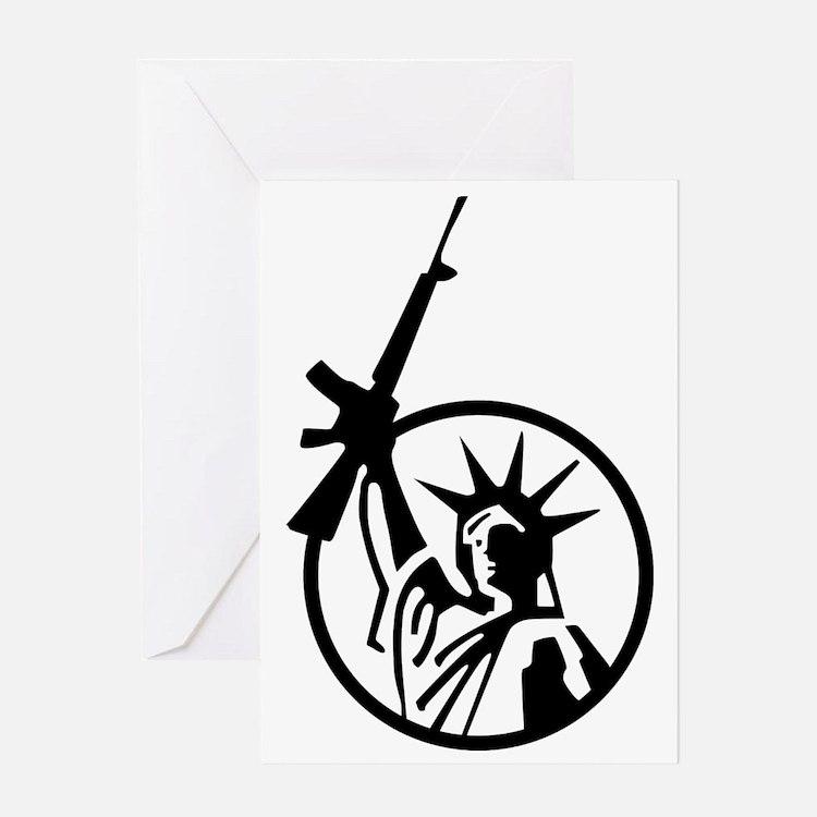 Lady Liberty AR-15 Greeting Card
